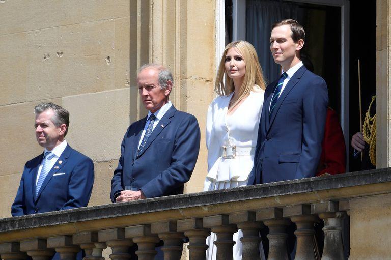 Ivanka y su esposo Jared, en el palacio