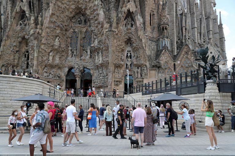 Actualmente, las visitas que recibe la monumental obra proyectada por Gaudí representan un tercio de las que tenía antes de la pandemia