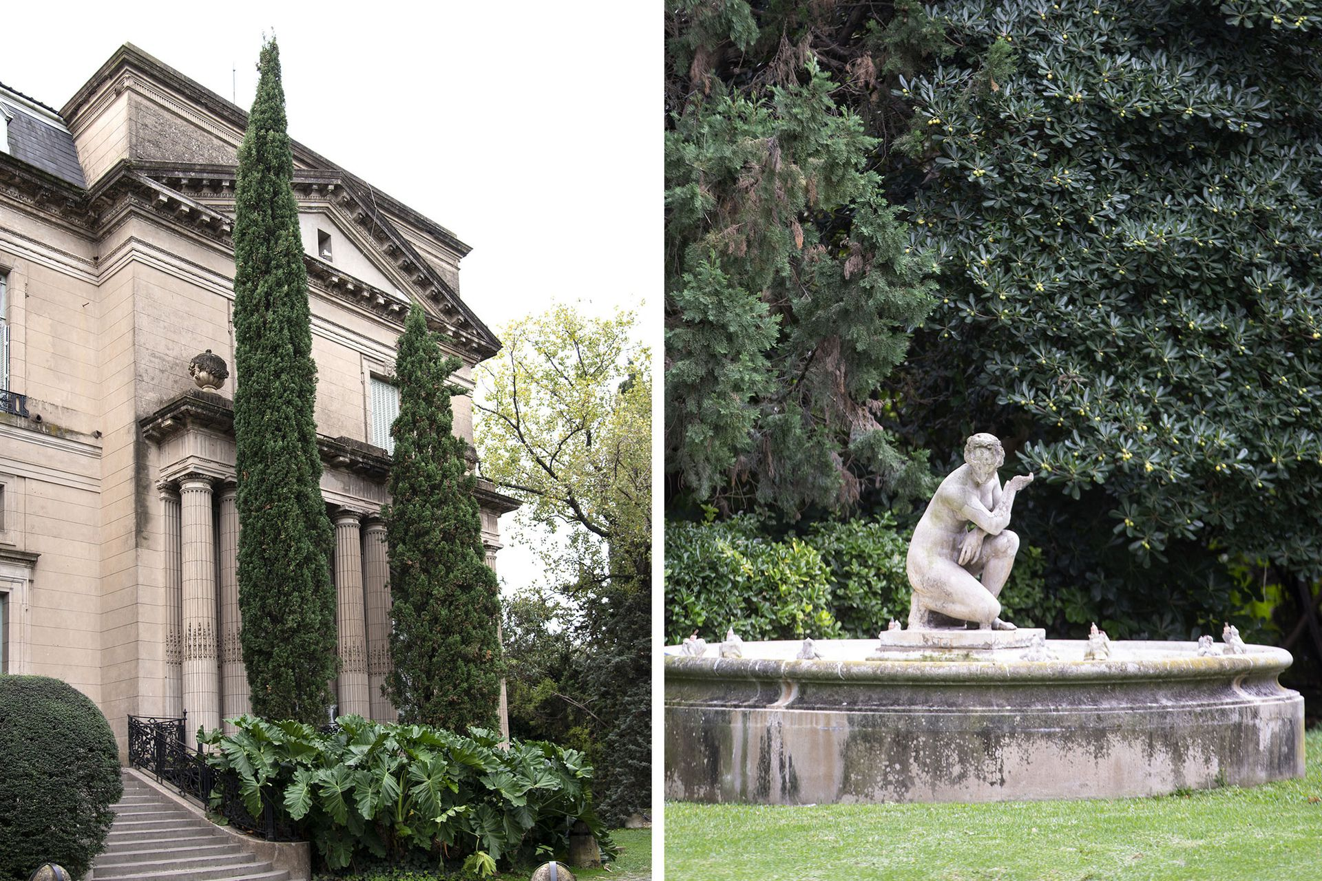 Fuentes y esculturas marcan el caracter de la Belle Époque.