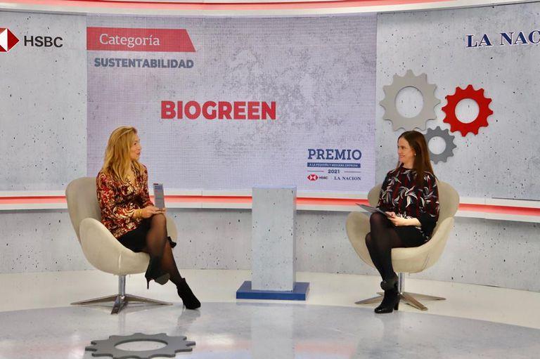 Andrea Pizzini Massue, gerente de Marketing y Desarrollo de Biogreen, charló con Silvia Stang, periodista de LA NACION