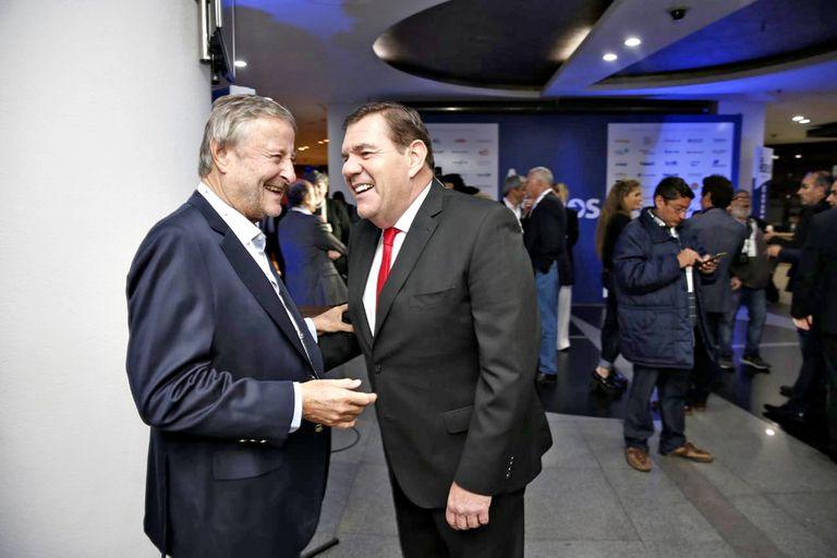 El empresario Cristiano Ratazzi y el candidato a intendente Guillermo Montenegro