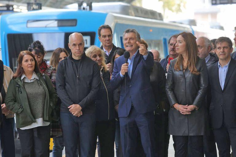 Con críticas a la corrupción kirchnerista, Macri inauguró el Viaducto Mitre