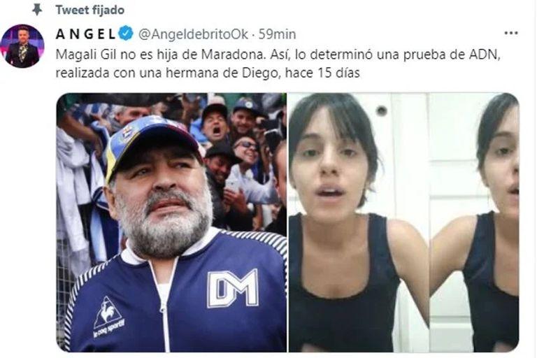 Ángel de Brito reveló el resultado negativo de la prueba de ADN que se realizó Magalí Gil