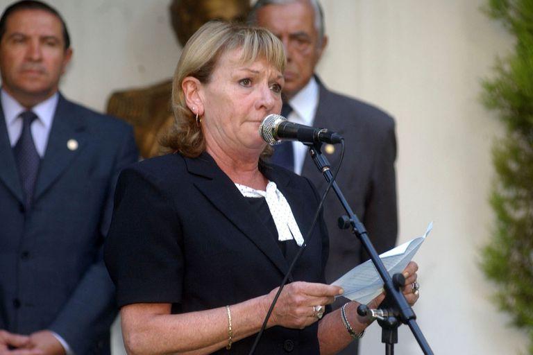 María Cristina Picón, viuda del capitán Humberto Viola