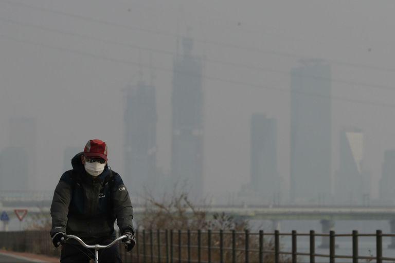 Un ciclista en Seúl
