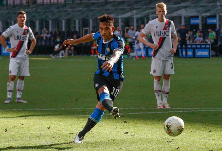 Lautaro Martínez. Erró un penal, Bologna lo aprovechó y le ganó 2-1 a Inter