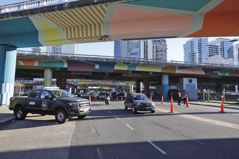 Controles en los accesos a la ciudad de Buenos Aires