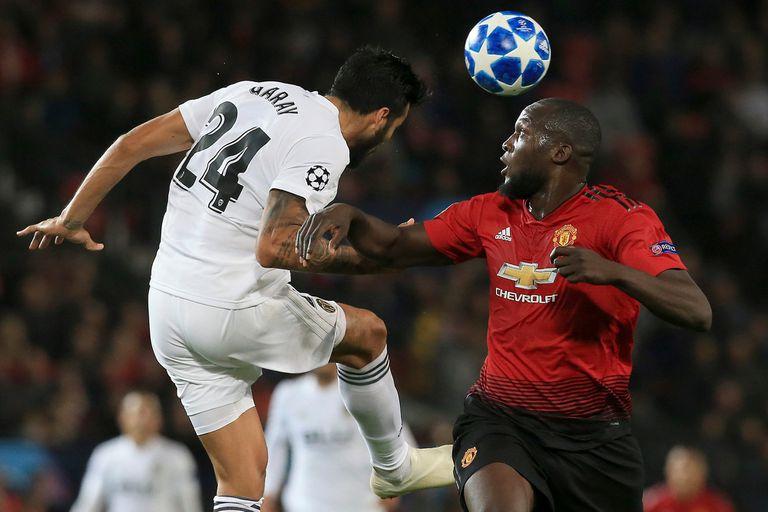 Lukaku en su paso por Manchester United