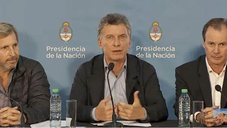 Mauricio Macri, en Entre Ríos, durante una visita al gobernador Gustavo Bordet
