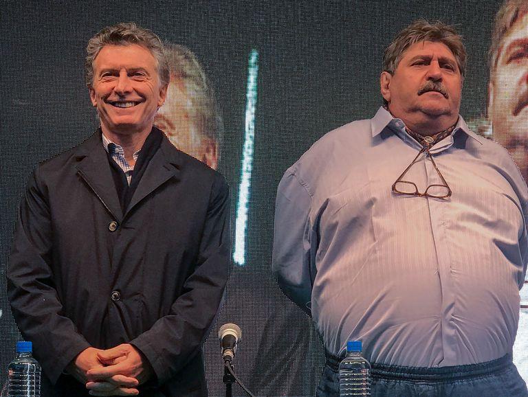Macri junto a Pignanelli en la conferencia de prensa