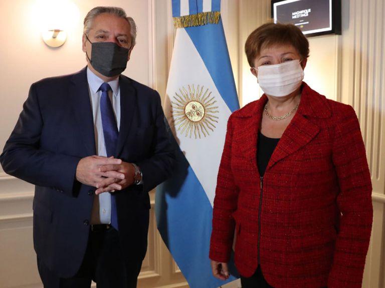 Alberto Fernández y Kristalina Georgieva, titular del FMI, se reunieron en Roma con la deuda como tema central
