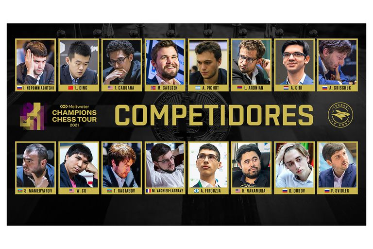 Alan Pichot se las verá con grandes ajedrecista del presente en la disputa de la Crypto Cup: Magnus Carlsen, Ian Nepomniachtchi, Hikaru Nakamura, Anish Giri, Fabiano Caruana, Alireza Firoudza y otros.