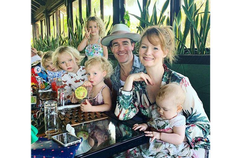 La familia de James Van Der Beek