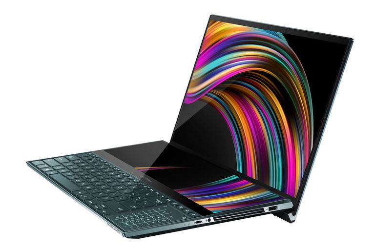Equipada con una llamativa segunda pantalla táctil, la computadora portátil ZenBook Pro Duo de Asus combina varias de las características presentes en las generaciones previas, como el display principal con bordes mínimos y el touchpad ScreenPad