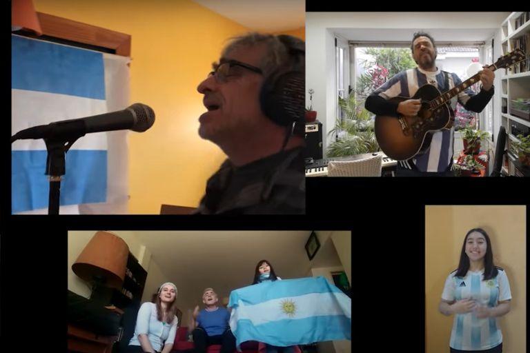 Homenaje a la bandera de artistas nacionales para recaudar fondos para el COVID
