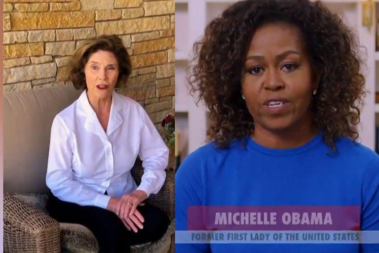 Laura Bush y Michelle Obama se unieron para la causa