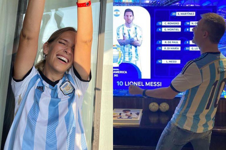 ¡Argentina campeón! Así celebraron los famosos el triunfo de la selección
