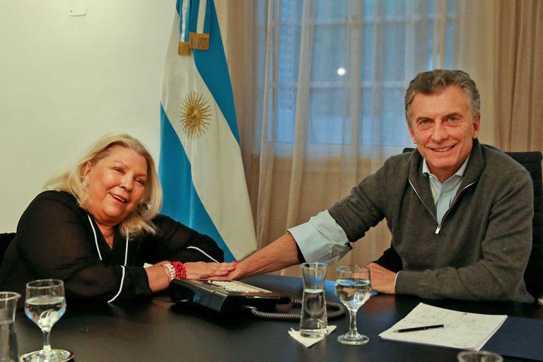 La diputada Elisa Carrió se reunió hoy con el presidente Mauricio Macri