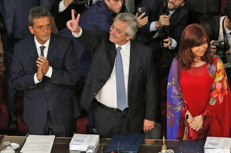 Fernández, al abrir las sesiones ordinarias en el Congreso en marzo de 2020