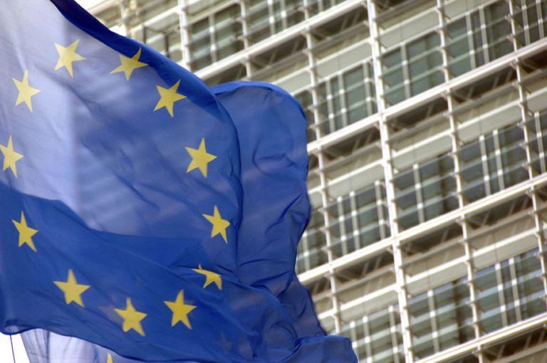 08-11-2018 Bandera de la UE frente a la sede de la Comisión Europea POLITICA EUROPA INTERNACIONAL UNIÓN EUROPEA EUROPA COMISIÓN EUROPEA