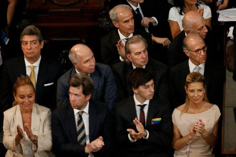 Los jueces de la Corte Horacio Rosatti, Ricardo Lorenzetti, Juan Carlos Maqueda y Carlos Ronsenkrantz, en la asunción de Alberto Fernández