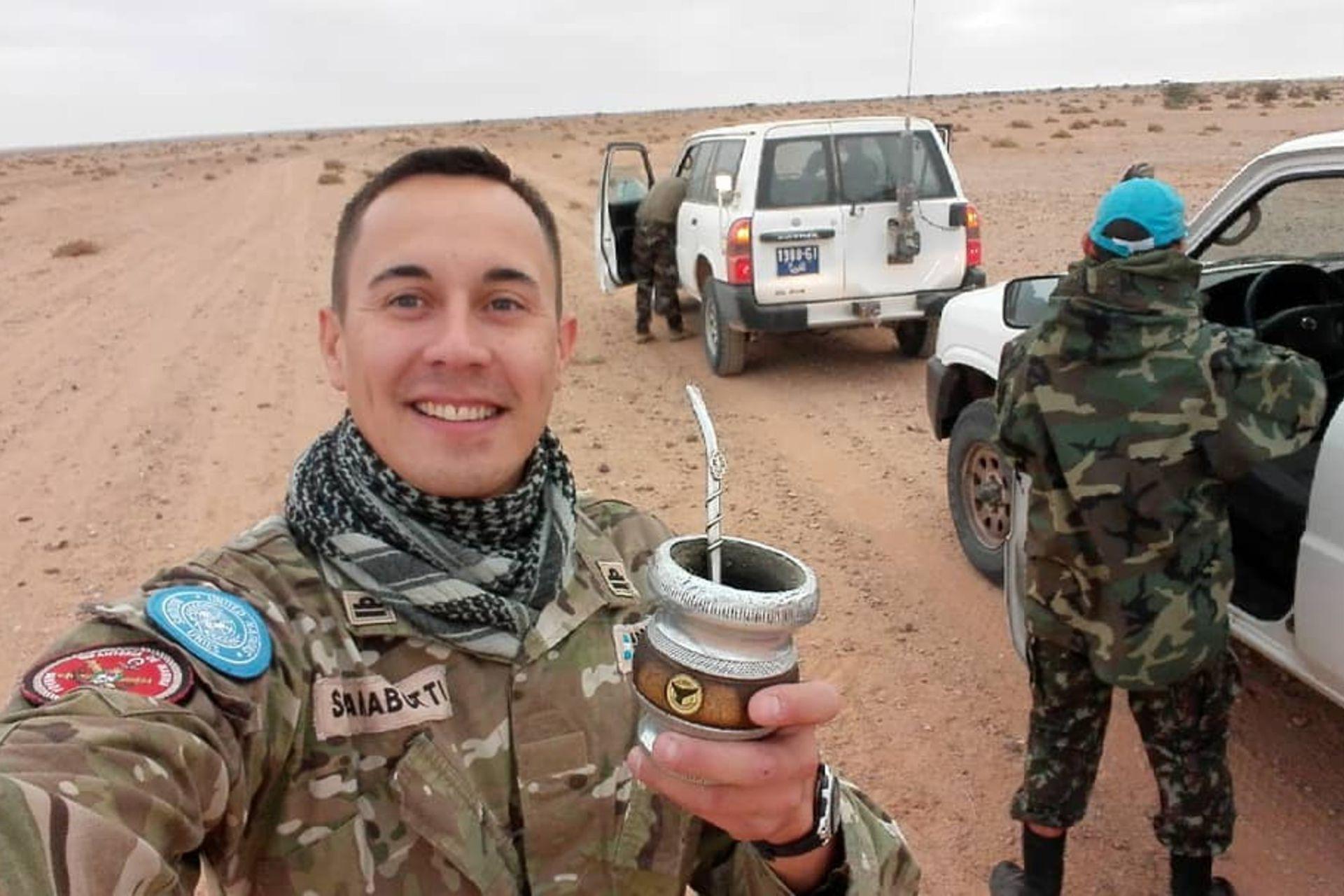 César Scarabotti está hace un año desplegado en el Sahara Occidental como observador militar