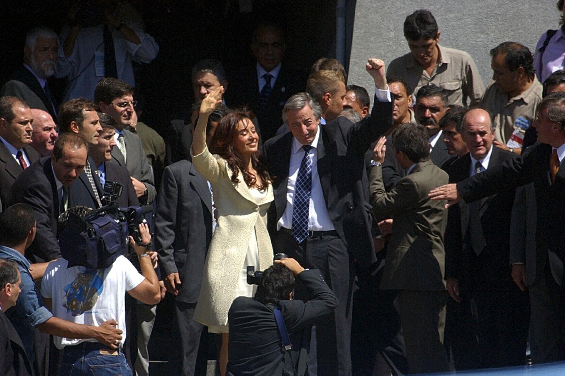 El 1 de Marzo de 2004, Néstor Kirchner inaugura las sesiones legislativas del Congreso
