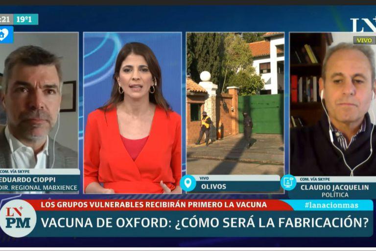 """Eduardo Cioppi, director regional de Mabxience, sostuvo para LA NACION PM que las 250 millones de dosis que producirán """"cubren muy bien Latinoamerica en la primera instancia"""""""