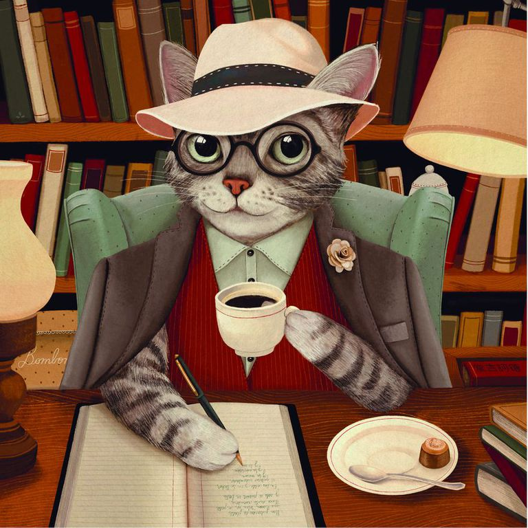 """Ilustración de Pilar Centeno para """"Vida de gatos"""", de Silvia Arazi"""