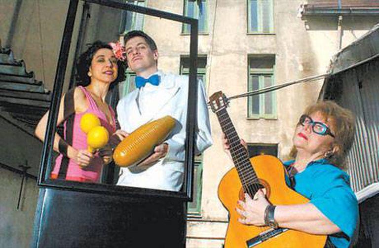 Gipsy Bonafina, Alejandro Viola y la directora Helena Tritek