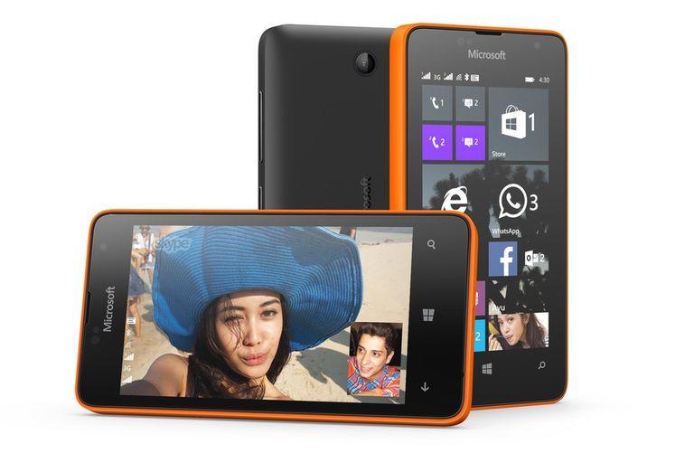 El Microsoft Lumia 430 tiene una pantalla de 4 pulgadas, chip de doble núcleo y 1 GB de RAM