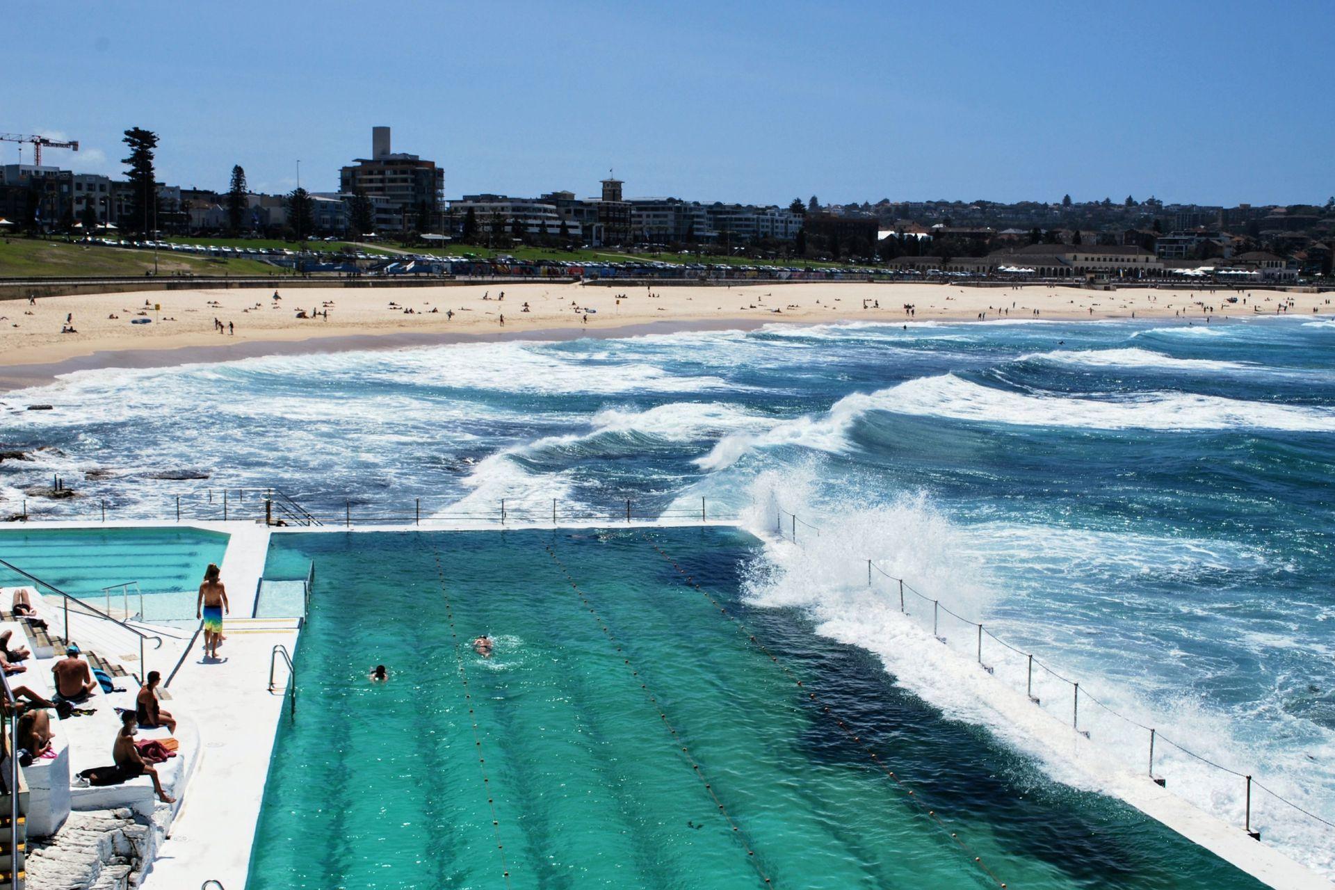Bondi beach, en Australia, y sus magníficas piscinas.