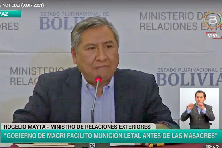 La carta con la lista del material enviado que Bolivia reveló para acusar al gobierno de Macri