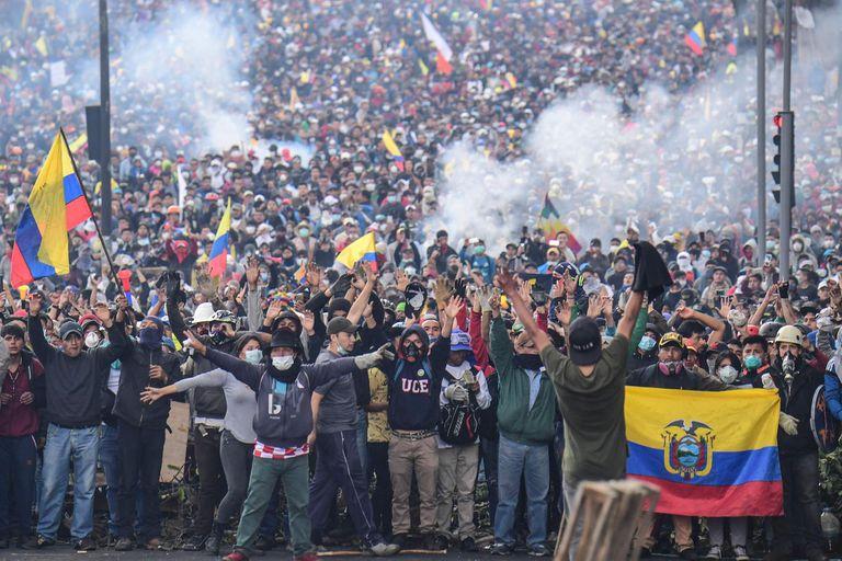 Las medidas de ajuste de Moreno despertaron masivas protestas