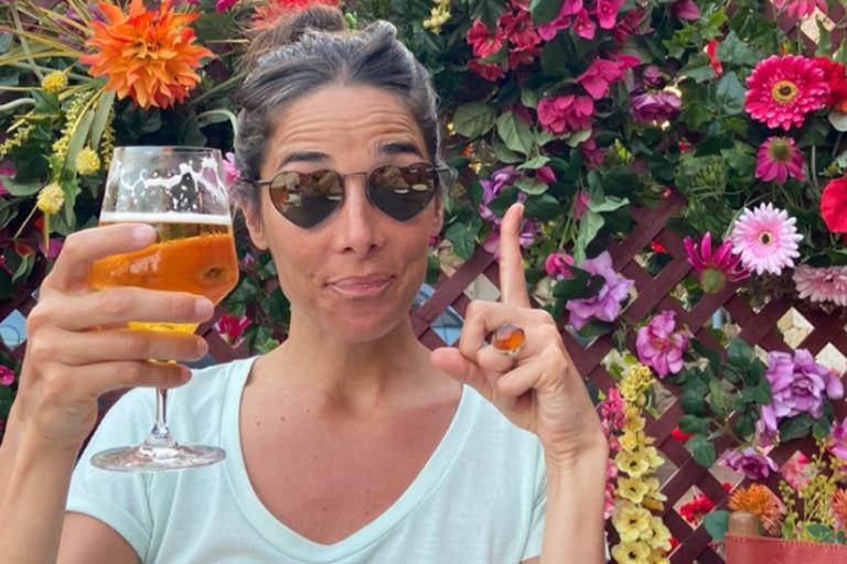 Juana Viale, en una jornada de relax