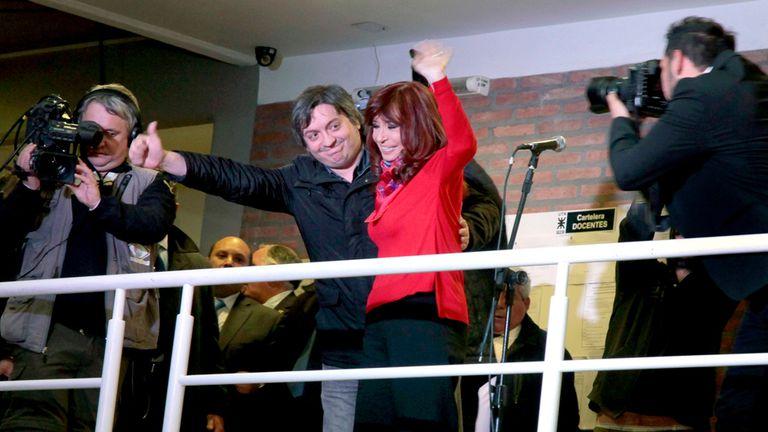 El viernes pasado Cristina Kirchner ya estuvo de campaña con su hijo Máximo y habló por cadena nacional