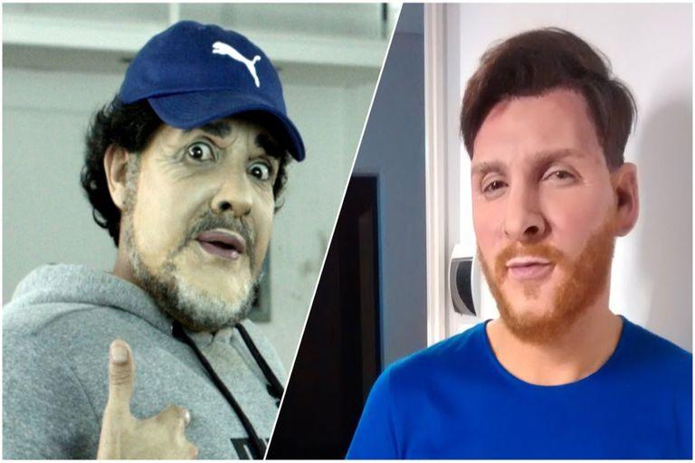 La particular comparación de Martín Bossi entre Messi y Maradona