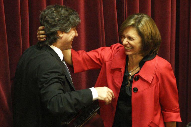 Amado Boudou y Beatriz Rokés, en el Senado en 2011