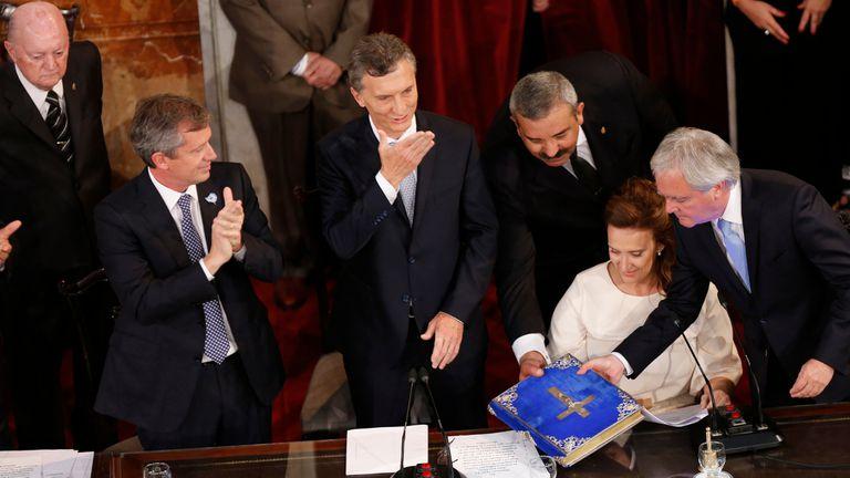 Mauricio Macri en el Congreso