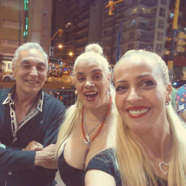Tony Salatino, Lía Crucet y Karina Crucet, hija de la cantante