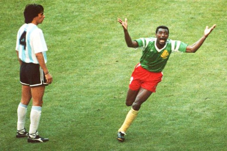 Basualdo, testigo mudo de la celebración de Omam-Biyik aquel 8 de junio de 1990 en Milán