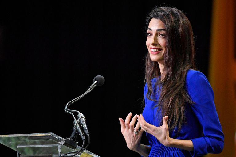 Amal Clooney habló de su propia historia para solidarizarse con los refugiados