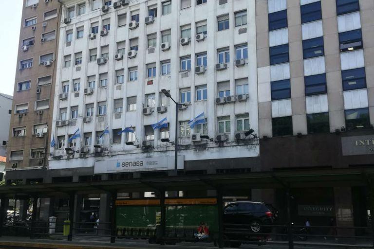 La oficina central del Senasa. El organismo hizo compras por insumos sanitarios para sus empleados
