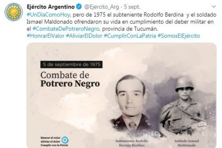 El Ejército recordó a militares muertos por la guerrilla y luego borró los tuits