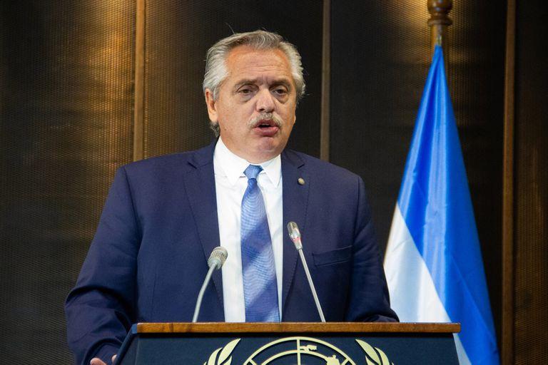 Conferencia de Alberto Fernández ante la Cepal, en Chile