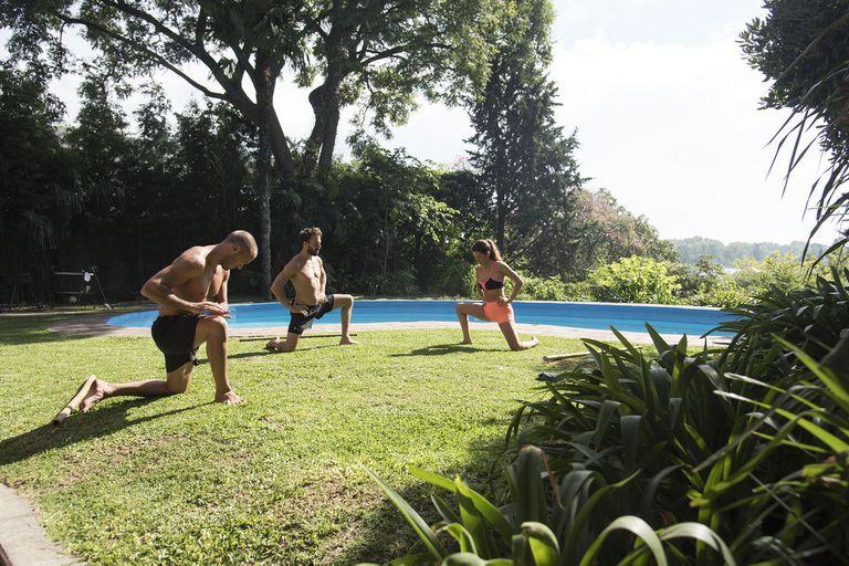 Federico Orión, cambió el crossfit por el animal flow que combina yoga, artes marciales y desplazamientos