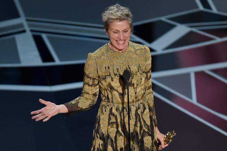 Frances McDormand celebra su segundo Oscar