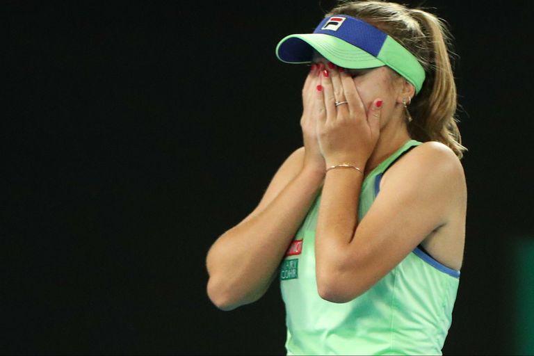 La estadounidense Sofia Kenin acaba de vencer en la final del Australian Open a la española Garbiñe Muguruza y no sale de su asombro.