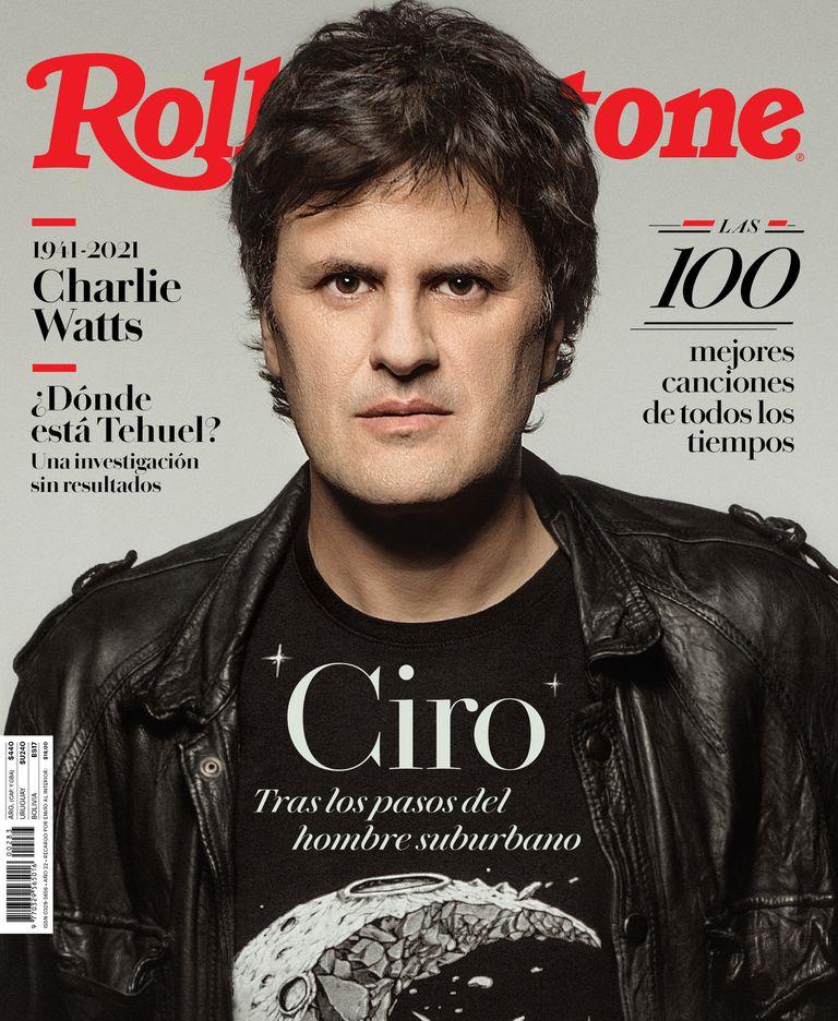 Ciro en la tapa del número de octubre de Rolling Stone, que llega a los kioscos de diarios y revistas en la próxima semana