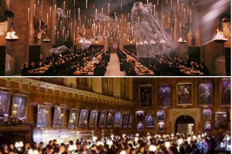 El comedor del pequeño mago se basó en el comedor de una institución educativa de Oxford